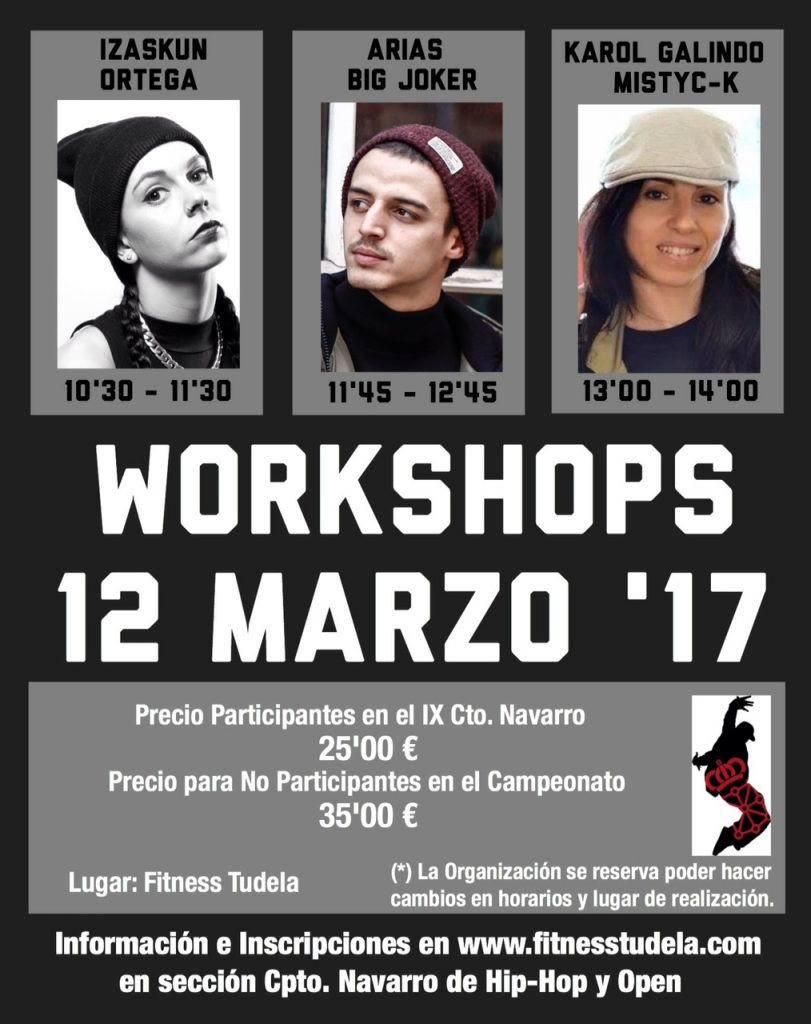 WORKSHOPS JUECES CTO. NAVARRO – 12 MARZO 2017