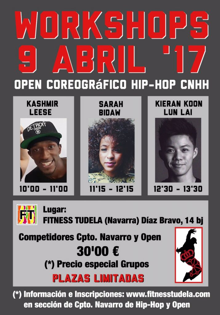 WORKSHOPS OPEN CNHH '17 – 9 DE ABRIL