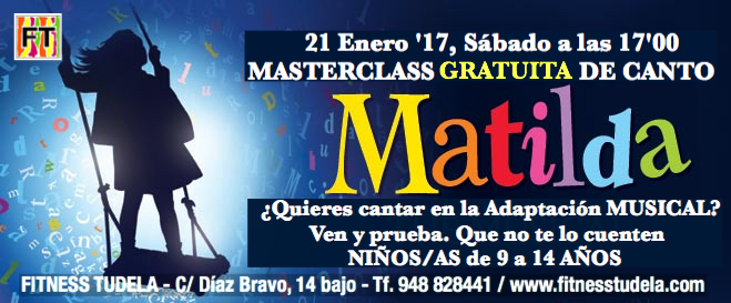 "MASTERCLASS GRATUITA DE CANTO "" MATILDA"""