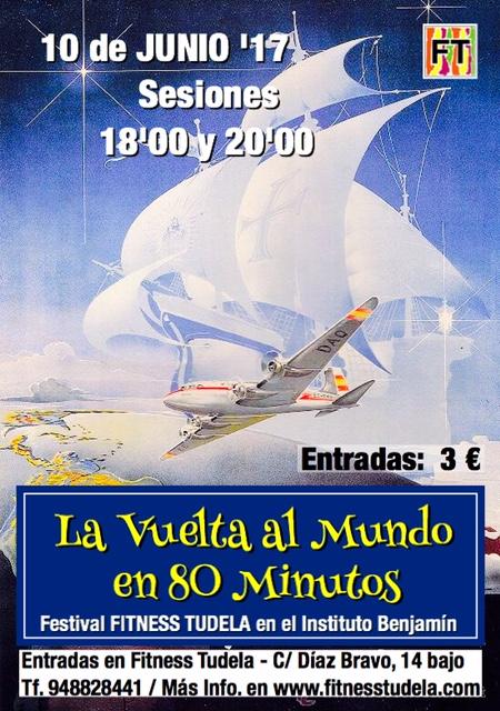 "FESTIVAL FITNESS TUDELA – ""LA VUELTA A MUNDO EN 80 MINUTOS"""
