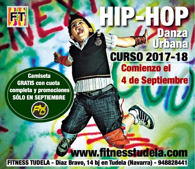 COMIENZO CLASES HIP-HOP SEPTIEMBRE 2017-'18 EN FITNESS TUDELA
