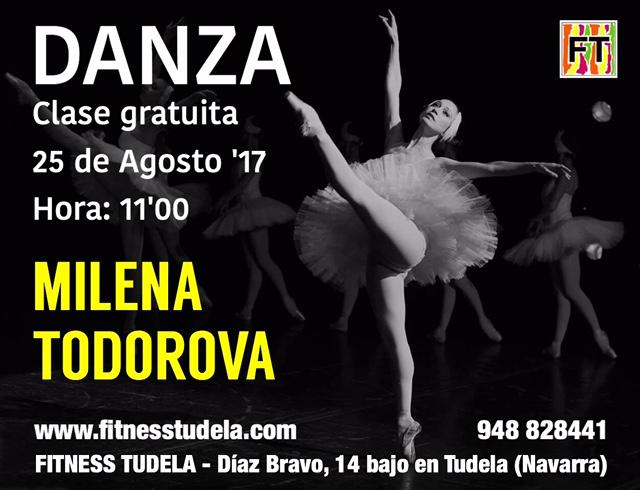 DANZA Agosto '17 – Clase Gratuita con MILENA TODOROVA en Fitness Tudela