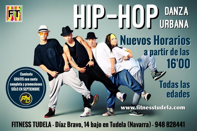 NUEVOS HORARIOS DE HIP-HOP DESDE LAS 16'00 EN FITNESS TUDELA