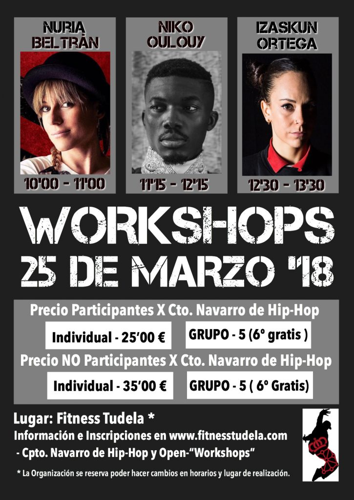 WORKSHOPS DANZA URBANA (HIP-HOP) – Tudela, 25 de Marzo