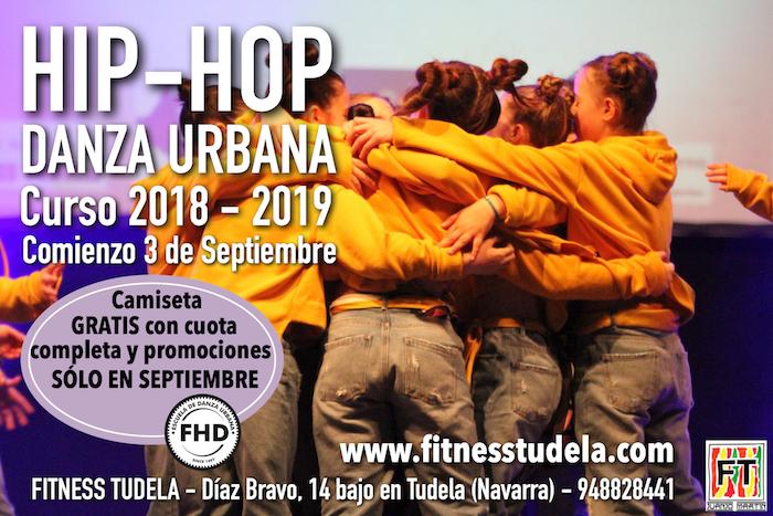 HIP-HOP FITNESS TUDELA – COMIENZO 3 SEPTIEMBRE '18