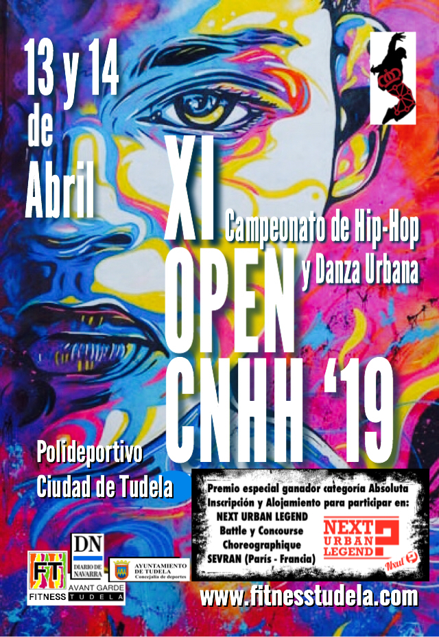 "PREMIO ""NEXT URBAN LEGEND"" (CTO DE HIP-HOP DE PARIS) EN XI OPEN CNHH 2019"
