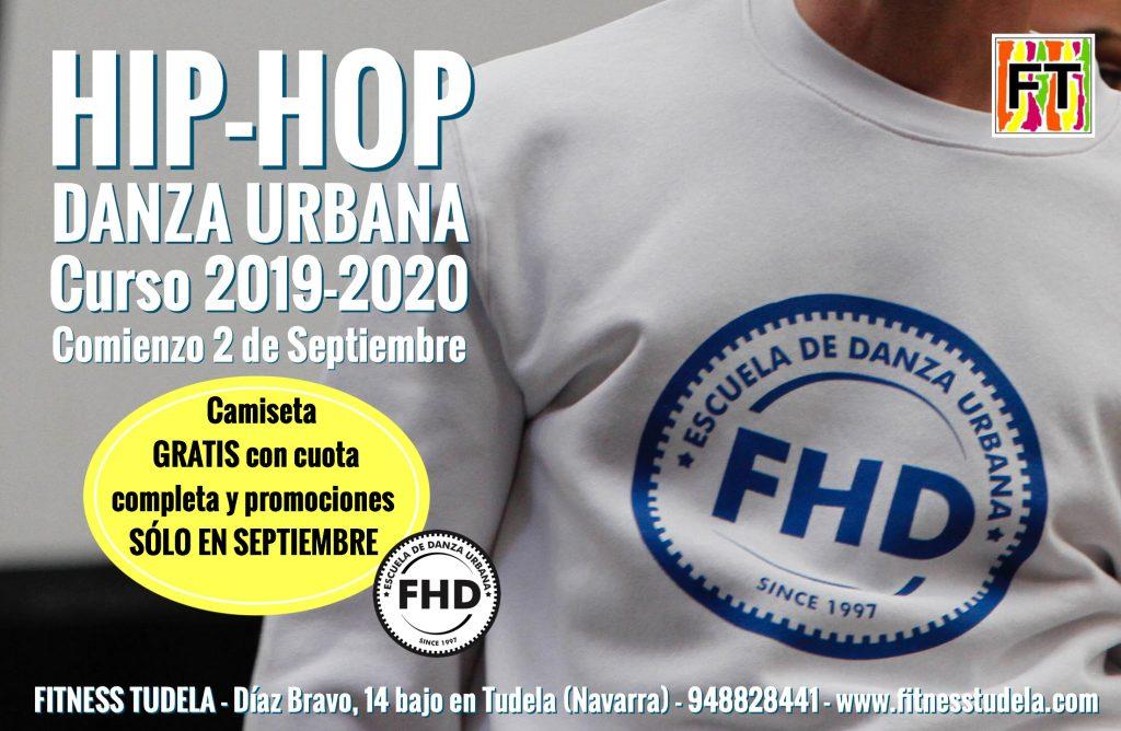 CURSO DE HIP-HOP Y DANZAS URBANAS FHD DE FITNESS TUDELA 2019-2020 TUDELA NAVARRA