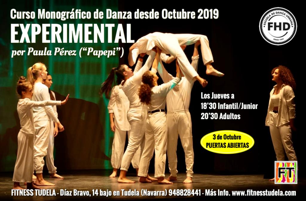 Curso Monográfico de Danza Experimental en Fitness Tudela por Paula Pérez Pinilla - Papepi en Tudela de Navarra
