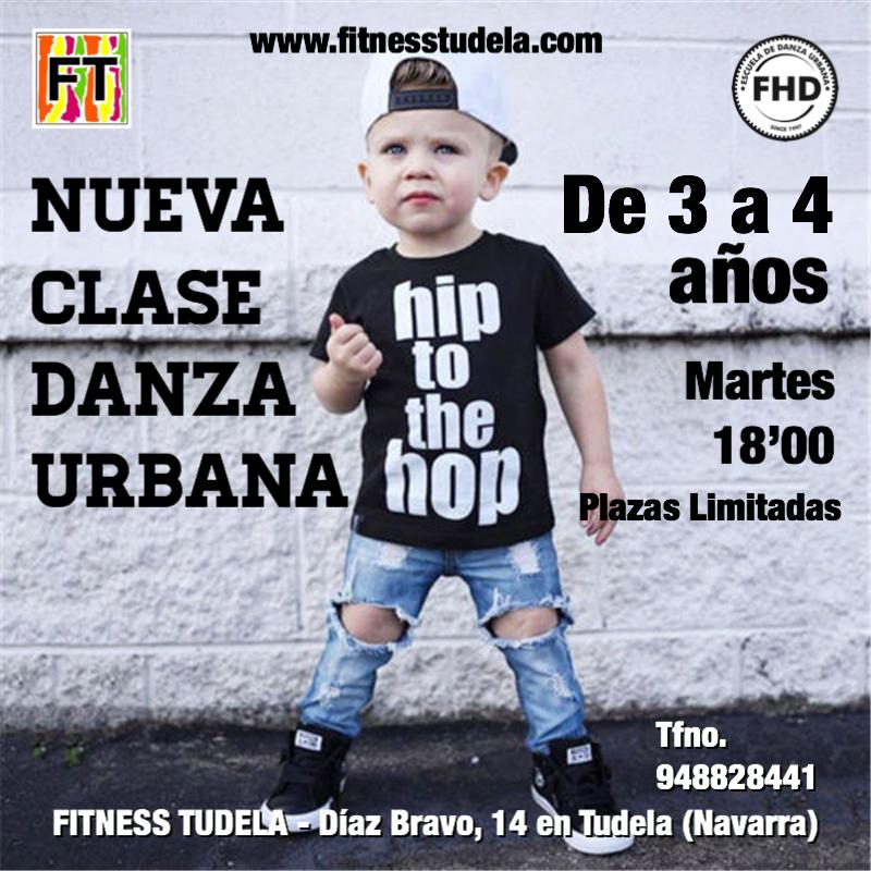 INICIACIÓN A LA DANZA URBANA - HIP-HOP (3/4 AÑOS) EN FITNESS TUDELA