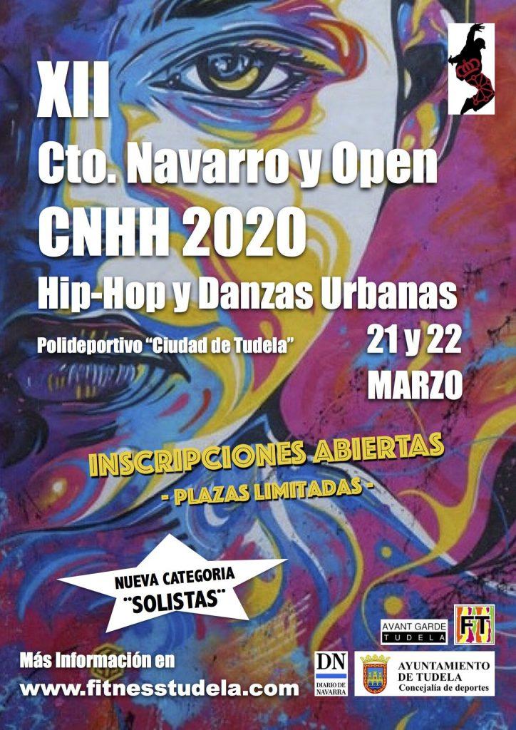INSCRIPCIONES ABIERTAS XII CAMPEONATO NAVARRO Y OPEN CNHH 2020 DE HIP-HOP Y DANZAS URBANAS