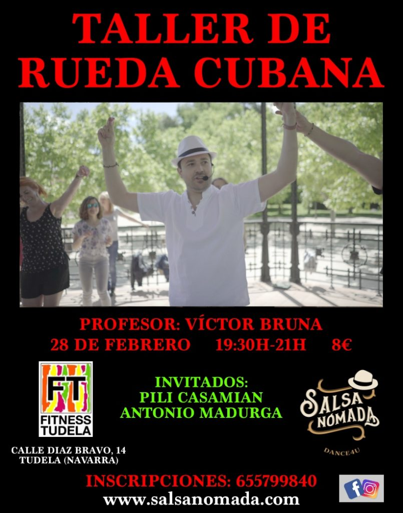 TALLER DE RUEDA CUBANA POR VICTOR BRUNA EN FITNESS TUDELA