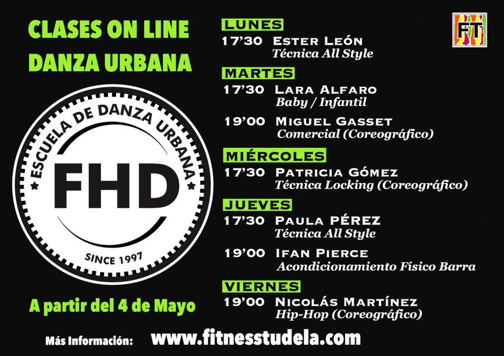 CLASES ON LINE POR FHD DE FITNESS TUDELA – DESDE MAYO 2020
