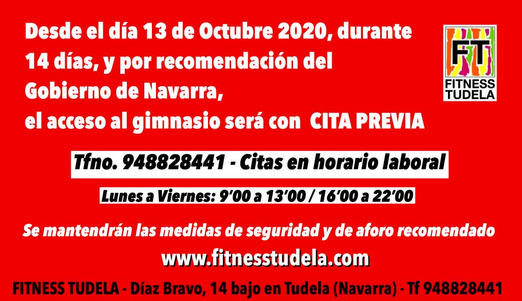 MEDIDAS COVID19 ORDEN FORAL – DESDE EL 13 AL 27 OCTUBRE 2020