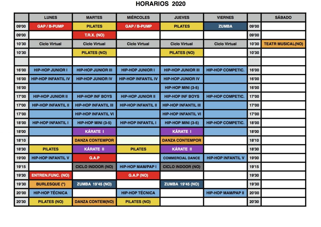 HORARIO FITNESS TUDELA PROVISIONAL COVID19 DIC 2020