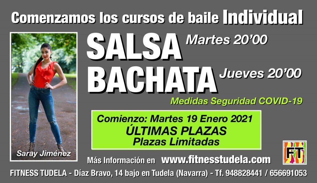 COMIENZO CURSOS DE SALSA Y BACHATA INDIVIDUAL EN FITNESS TUDELA ENERO 2021