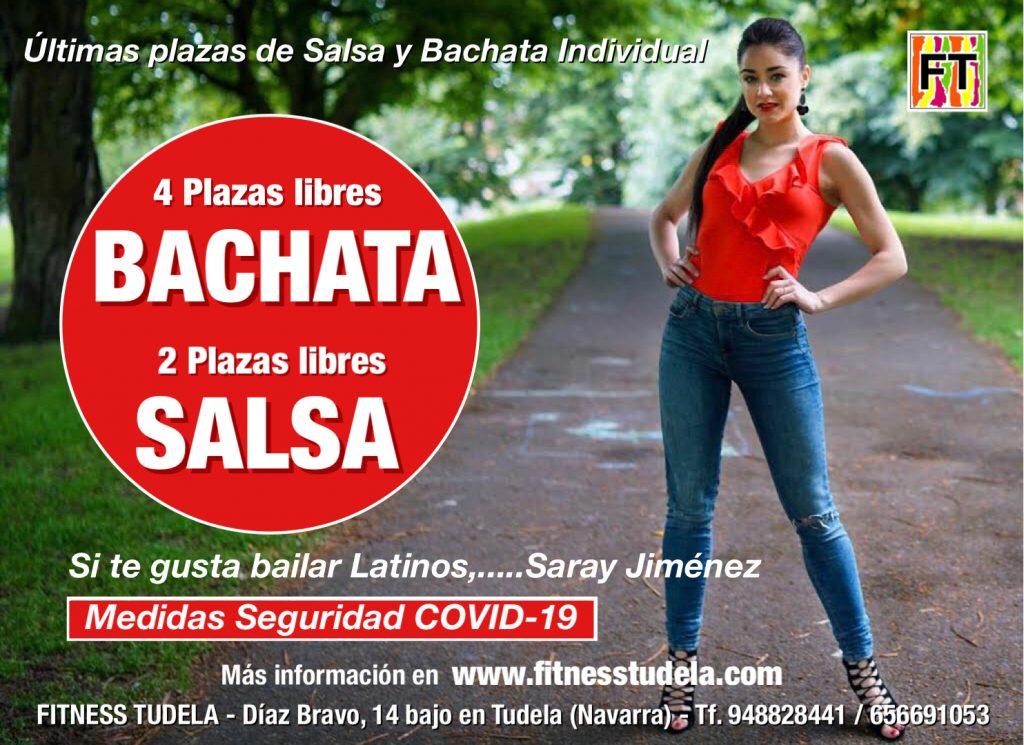 ÚLTIMAS PLAZAS SALSA Y BACHATA INDVIDUAL EN FITNESS TUDELA