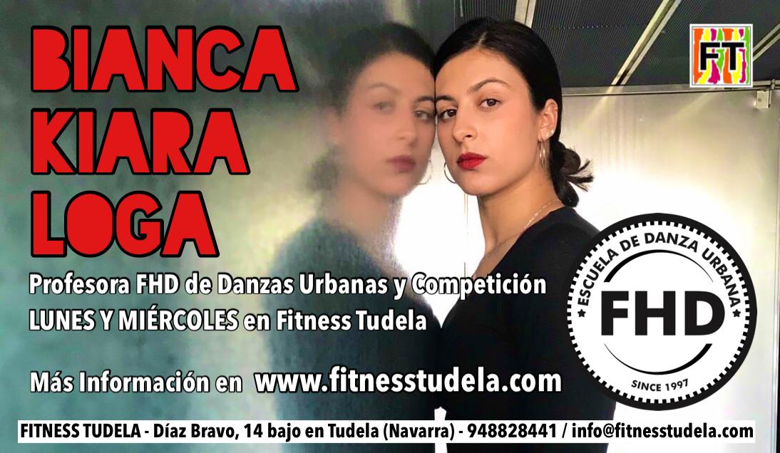 BIANCA KIARA LOGA, PROFESORA EN FHD DE FITNESS TUDELA