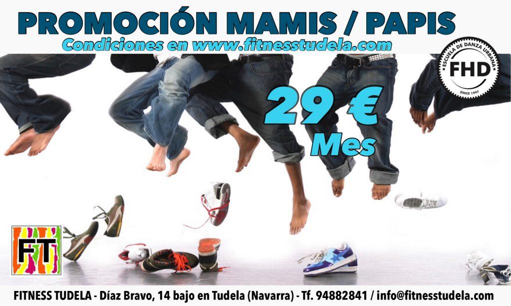 PROMOCIÓN MAMIS/PAPIS 29 EUROS EN FITNESS TUDELA